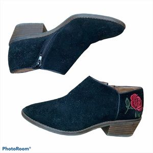 Lucky Brand Faithly Floral Embroidered Booties 7.5